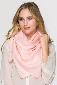 Rose Simple Solid Open Scarf