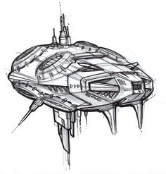 Space Ship sketch-a-day-400