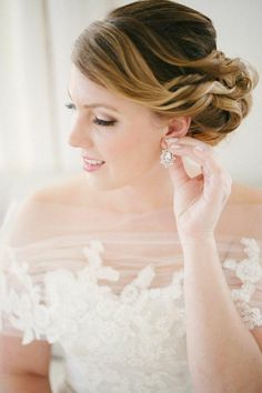 wedding hairstyle; photo: Katie Lopez Photography