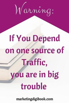 Warning_ If You Depend on one source of Traffic, you are in big trouble. Increase traffic to blog to website increase traffic tips increase traffic article Small Business Marketing, Media Marketing, Digital Marketing, Marketing Strategies, Business Tips, Make More Money, Make Money Blogging, Blogging Ideas, Power Of Social Media