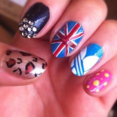 Amazing Spice Girls Nail Art created by our make-up artist Karla! Using MUA nail varnishes...