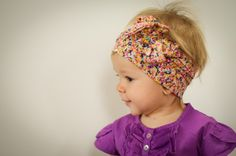 Bright Floral Vintage Style Headwrap - Infant to Adult - Knot, Bow, Turban, Headscarf - Wear in Front, Back, or Side!