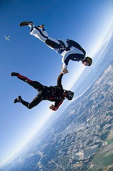 When I grow up I want to be a skydive guide because it is fun when you feel the wind in your face and jumping out a plane.