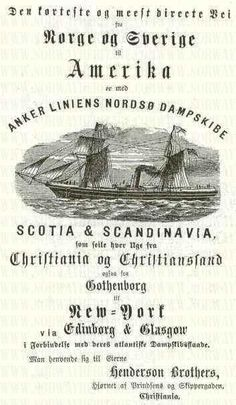 Many Scandinavians boarded ships like this to come to the US.