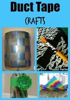 Looking for fun crafts to decorate your room or keep you busy on a cloudy day? Check out these awesome duct tape crafts that are easy for anyone to make!