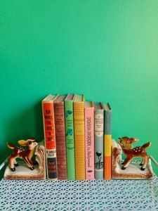 Image of vintage fawn bookends