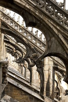 Unforgettable: walk the rooftops of Milan's magnificent cathedral Gothic Architecture, Beautiful Architecture, Beautiful Buildings, Architecture Details, Cathedral Architecture, Milan Duomo, Flying Buttress, Italy Images, Voyage Europe