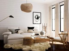 The COVID-19 pandemic greatly affected interior design. Here are our five predictions for what's to come in the design world. Black And White Vase, Black And White Pillows, White Vases, Home Office Design, House Design, Wicker Pendant Light, Home Improvement Show, Open Concept Home, Coffee Table With Storage