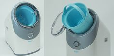 This Baguni washing machine concept saves one step, the one where you empty your clothes basket into the washing machine, from your laundry cycle. Is this a huge problem for people? Home Gadgets, Tech Gadgets, Machine Photo, Laundry Design, Clothes Basket, Graduation Project, Machine Design, Interface Design, Technology Gadgets