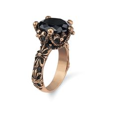 Natures Jewelry Genuine Onyx And Copper Coronet Ring Size 10 (2.235 RUB) ❤ liked on Polyvore featuring jewelry, rings, floral crown, band jewelry, crown jewelry, floral band ring and floral ring