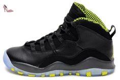 Nike Air Jordan 10 Retro Bg, Chaussures de sport garçon - différents  coloris - Noir