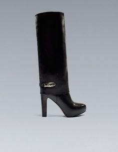 SPAT HEEL BOOT - Shoes - Woman - ZARA United States
