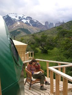 Open terrace to read, relax and admire the view of Las Torres del Paine http://www.ecocamp.travel/Domes/Suite