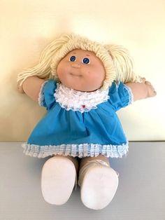 Vintage 1980's Cabbage Patch Kids blonde girl doll pigtails #Coleco #Dolls