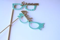 Wedding Photo Booth Props-Photo Booth Eye Glasses-wedding-photo booth props-party props-wood props by TummyTickles on Etsy
