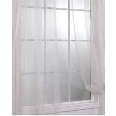 Exclusive Fabrics Off White Faux Organza Sheer Curtain Panel Pair ($28) ❤ liked on Polyvore featuring home, home decor, window treatments, curtains, beige, sheer window curtains, beige sheer curtains, window curtains and sheer curtains