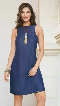 Casual Wear, Casual Dresses, Look Fashion, Womens Fashion, Designs For Dresses, Stylish Outfits, Stylish Clothes, High Neck Dress, Glamour