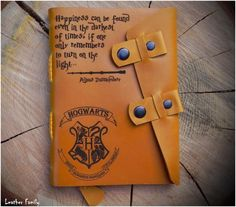 Leather Harry Potter notebook/Valentines by LeatherFamilyUA