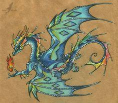 Dragon aquablue