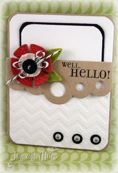 Card for Die Cutting for Paper Crafters hop.  All stamps and dies are The Cat's Pajamas