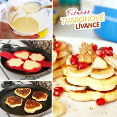 Fitness jogurtové valentýnské lívance - zdravý recept Bajola Deserts, Yummy Food, Healthy Recipes, Cooking, Breakfast, Fitness, Baking Center, Gymnastics, Postres