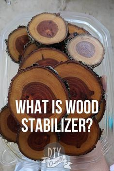 What is WOOD STABILIZER and why you need it for crafts! This is particularly important when you're making wood slice crafts. What is WOOD STABILIZER and why you need it for crafts! This is particularly important when you're making wood slice crafts. Wood Stumps, Wood Logs, Wood Slab, Wood Planks, Wood Log Crafts, Wood Slice Crafts, Tree Crafts, Log Projects, Vinyl Projects