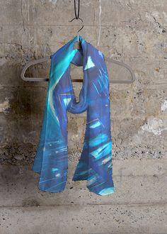 Cashmere Silk Scarf - Turquoise and Yellow by VIDA VIDA FuCscEL