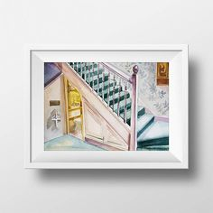 Wall Art Watercolor Harry Potter Under Stairs Bedroom Print,Harry Potter Room,Movie Poster,Film,,Harry Hermione Ron,Printable,Fan Gift,Decor