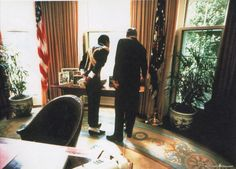 MJ with President Reagan at the White House