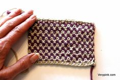 Linen Stitch How To