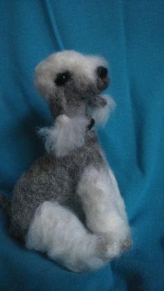 Bedlington terrier/Needle felted by GillysDustyArt on Etsy