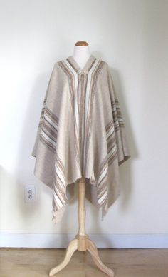 Vintage Bohemian poncho / earth tone / by TheBlueSkyBoutique