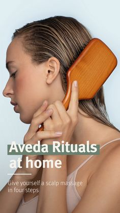 Living Aveda - Wellness Landing Page Paddle Brush, Acupressure Points, Destress, Aveda, Hair Oil, Wellness Tips, How To Relieve Stress, Self Care, Massage
