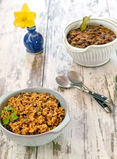 These recipes are so simple to prepare! If you don't have an Instant Pot you can make the rice on the stove-top too, so don't fret. I like making the Stove-top Smoky Red Beans while the Vegan Instant Pot Dirty Rice is cooking. Vegan Dinner Recipes, Delicious Vegan Recipes, Whole Food Recipes, Vegetarian Recipes, Healthy Recipes, Free Recipes, Healthy Food, Pressure Cooking Recipes, Slow Cooker Recipes