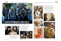 My reportage on Gallery Nails & MakeUP n° 1/2013 - Behind the scenes of SFX makeup course Stefania D'Alessandro