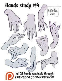 Hand study #4 | Kate Fox on Patreon