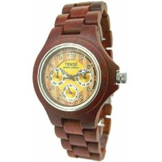 Amazon.com: Tense Mens Wood Watch Sandalwood Hypoallergenic G4300S: Tense: Watches