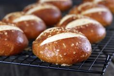 Pretzel rolls. these are easy to make and so tasty! try topping the split rolls with pepperoni and provolone for an out of this world pretzel melt that cost half what you pay for premade sandwiches at the deli.