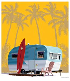 #SurfArt #LongBoard #Trailer