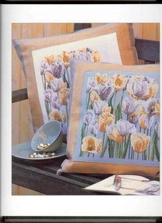 Cuscino tulipani bianchi 1/5