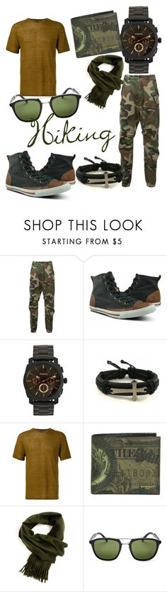 """""""Hiking #WildMen"""" by ishisri ❤ liked on Polyvore featuring R13, Burnetie, FOSSIL, TRANSIT, Givenchy, Prada, men's fashion and menswear"""