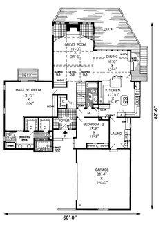 Amazing Rear Deck & Stunning Great Room - Plan 038D-0059 | houseplansandmore.com