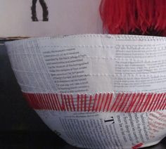 STITCHED PAPER BOWL