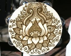 Lotus Henna Tambourine. $45.00. Maybe for another Edward Sharpe and the Magnetic Zeros concert!