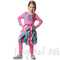 Posh Designer Kids Clothes one posh kid girls pink stripe