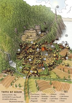 A website and forum for enthusiasts of fantasy maps mapmaking and cartography of all types. We are a thriving community of fantasy map makers that provide tutorials, references, and resources for fellow mapmakers. Fantasy City Map, Fantasy Town, Fantasy Places, Medieval Fantasy, Fantasy World, Medieval Life, Plan Ville, Village Map, Rpg Map
