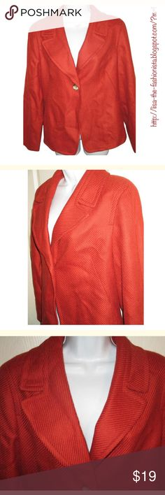 🌹TALBOTS Orange Blazer JacketSZ 14🌹 This is a brand new item.. Orange..  Love this color..  Bust measures 50 inches and length is 24 inches Talbots Jackets & Coats Blazers