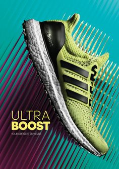 adidas Ultra Boost Energy Takes Over Campaign on Behance Adidas Design, Adidas Ultra Boost Men, Adidas Boost Mens, Shoe Advertising, Shoe Poster, Shoes Ads, Promotional Design, Ad Design, Layout Design