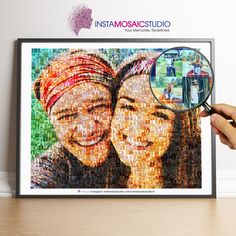Custom Photo Mosaic Poster 1300+ Photos, Personalized Mosaic, Photo Collage, Gifts for Her, Anniversary Gifts, Birthday Gifts, Couple Gifts by InstaMosaicStudio on Etsy