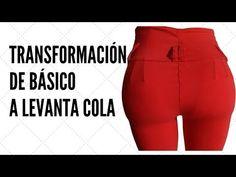 Transformación Pantalón Básico a Levanta Cola Colombiano - YouTube Mint Prom Dresses, Diy Clothes, Diy Fashion, Couture, Shorts, Tips, Pants, Ideas, Easy Dress